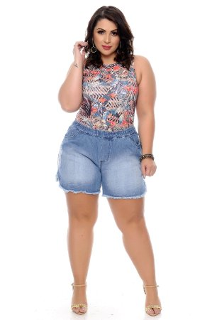 Shorts Jeans Plus Size Josiany