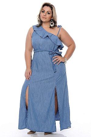 Vestido Jeans Plus Size Lucila