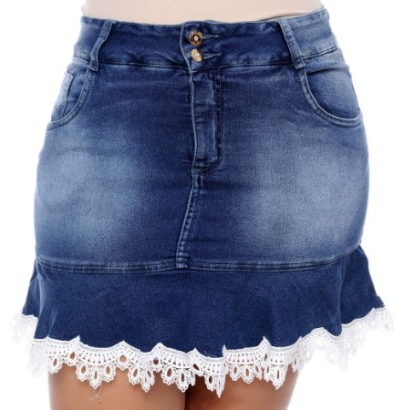 Saia Jeans Plus Size Carol