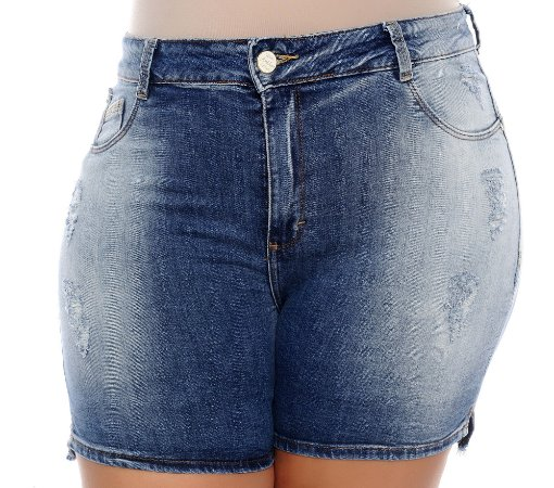 Shorts Jeans Plus Size Ecleya