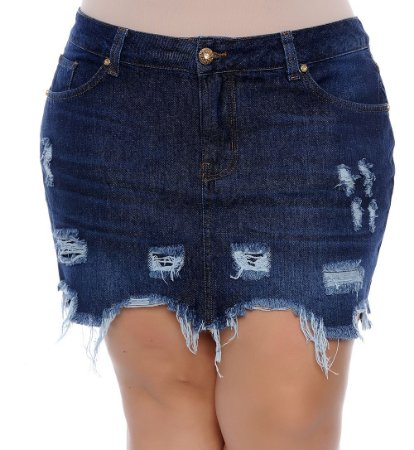 Saia Jeans Plus Size Ninive