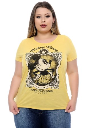 T-shirt Plus Size Mickey Yellow Honor