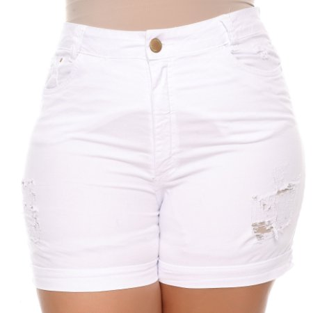 Shorts Jeans Plus Size Poly