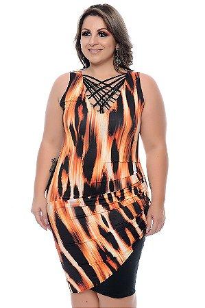 Vestido Plus Size Halias