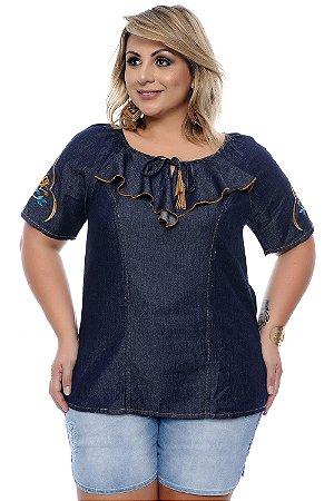 Blusa Jeans Plus Size Hera