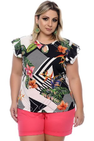 Blusa Plus Size Shiriani