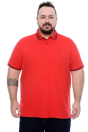 Polo Masculina Plus Size Elder
