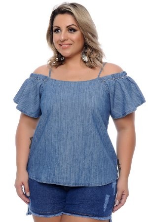 Blusa Jeans Plus Size Ginger