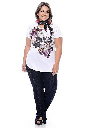 T-shirt com Lenço Plus Size Blenda