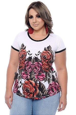 Blusa 2 em 1 Plus Size Blanche