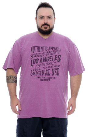 Camiseta Masculina Plus Size Adell