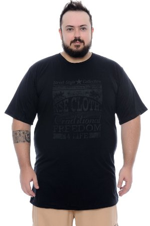 Camiseta Masculina Plus Size Alair