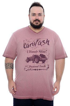 Camiseta Masculina Plus Size Jeff