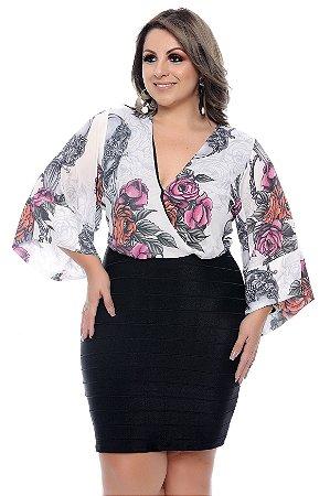 Vestido Transpassado Plus Size Odyne