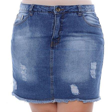 Saia Jeans Plus Size Maren