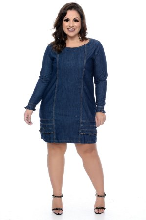1da7875a4 Vestido Jeans Plus Size Jacyne