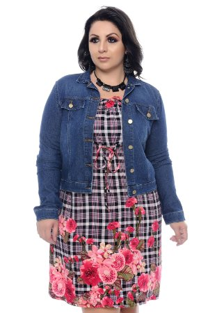 Jaqueta Jeans Plus Size Kiera