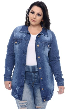 Jaqueta Jeans Plus Size Nahan