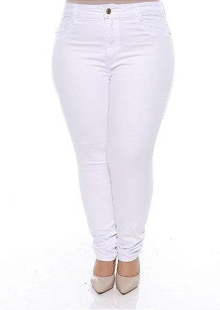 Calça Branca Plus Size Najila