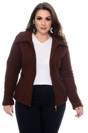 Jaqueta Tweed Plus Size Rauanda