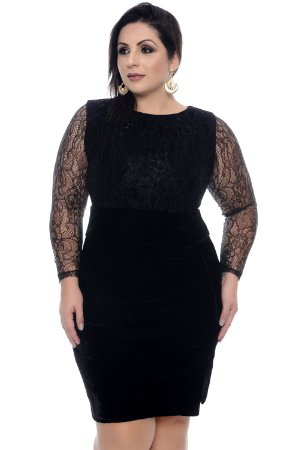 Vestido Plus Size Diamond