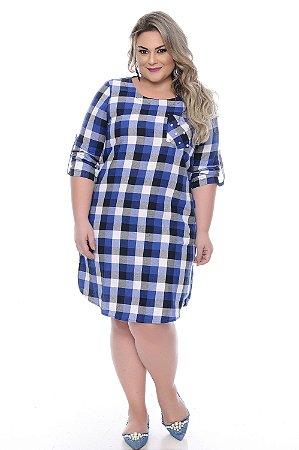 Vestido Xadrez Plus Size Delft
