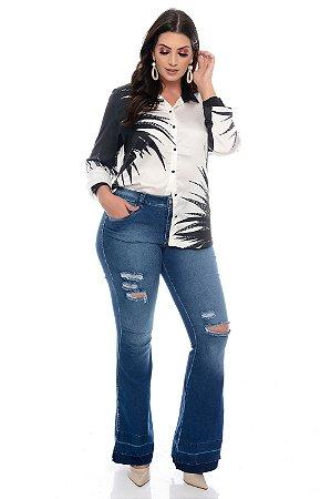 Camisa Plus Size Kobata