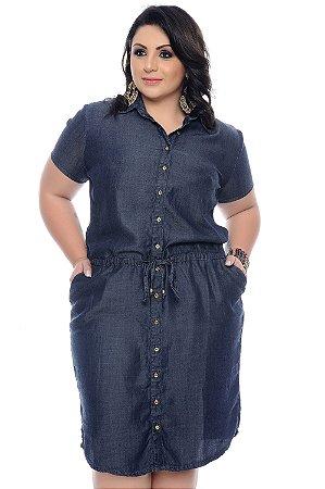 7249f3d8a7ae Vestido Chemise Jeans Plus Size Kedima | Daluz Plus Size - Loja ...