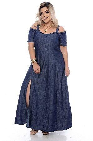 Vestido Jeans Plus Size Sansha