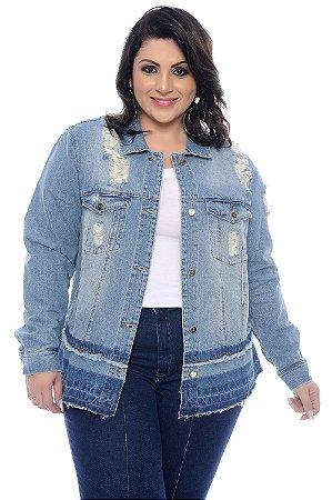 Jaqueta Jeans Plus Size Novy