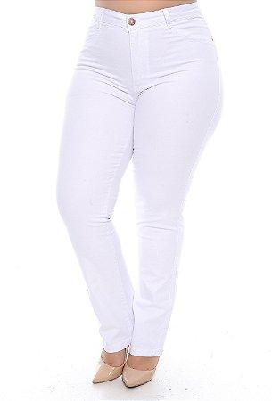 Calça Branca Plus Size Anady