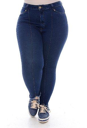 Calça Jeans Skinny Plus Size Omidy