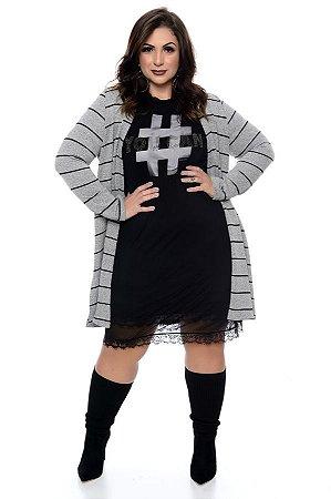 Cardigan Listrada Plus Size Tuzia