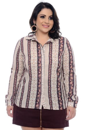 Camisa Crepe Plus Size Achila