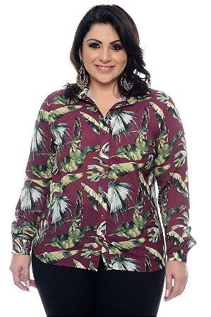 Camisa Crepe Plus Size Syta