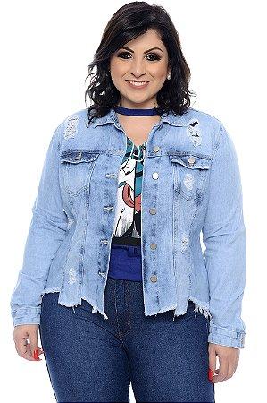 Jaqueta Jeans Plus Size Kinsale