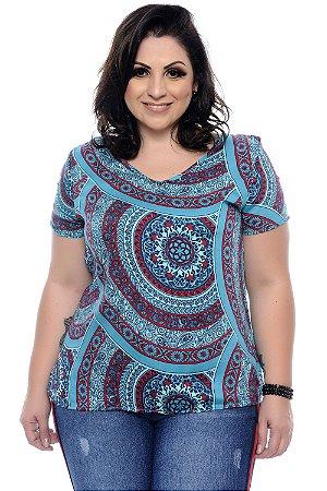 Blusa Plus Size Mandala