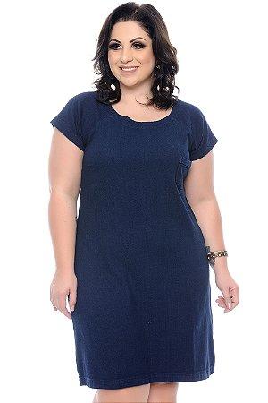 Vestido Jeans Plus Size Mazzeti