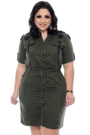 Vestido Safari Plus Size Sallus
