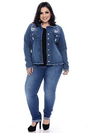 Jaqueta Jeans Plus Size Dalla