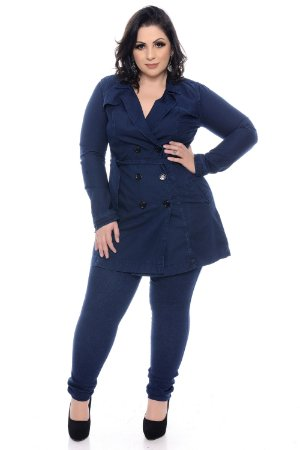 Casaco Jeans Plus Size Marlova
