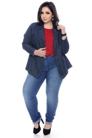 Blazer Jeans Plus Size Yoselin