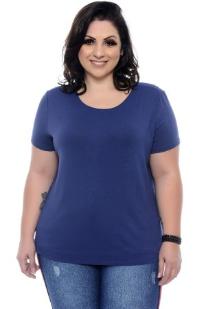 Blusa Plus Size Navy