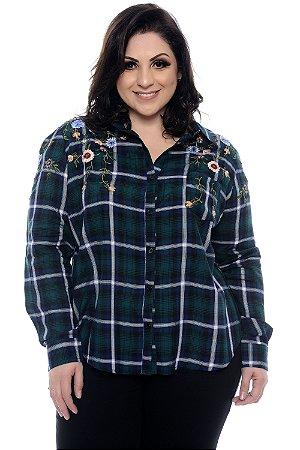 Camisa Xadrez Plus Size Dayah