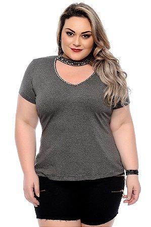 Blusa Plus Size Chocker Jeniffer