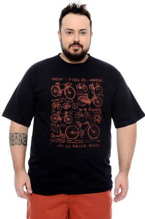 Camiseta Masculina Plus Size Dimas