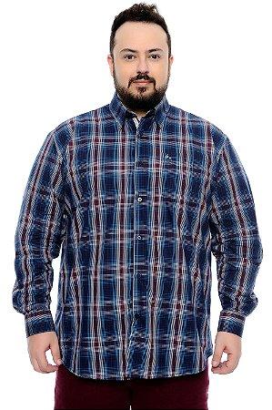 Camisa Xadrez Plus Size Eneias