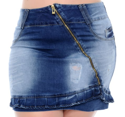 Saia Jeans Plus Size Dalitti
