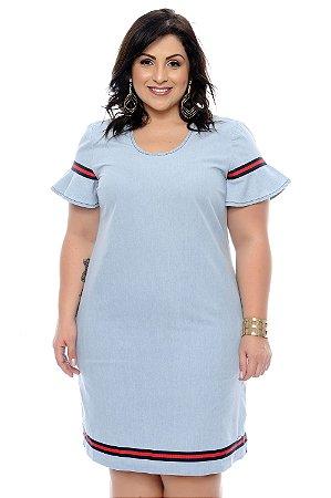 Vestido Denim Plus Size Heloize