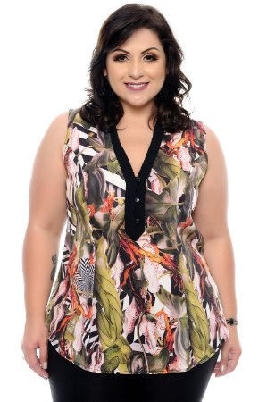 Camisa Plus Size Kerolen
